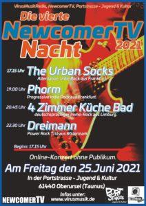 Die vierte NewcomerTV Nacht 2021 in der Portstrasse Jugend & Kultur.