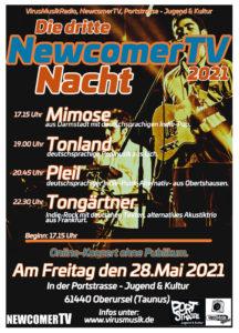 Die dritten NewcomerTV Nacht 2021 in der Portstrasse Jugend & Kultur