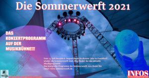 Das Programm auf der Musikbühne, Sommerwerft 2021.
