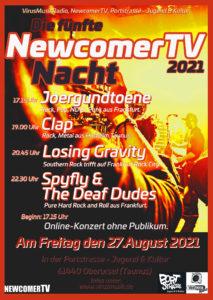 Die fünfte NewcomerTV Nacht 2021 in der Portstrasse Jugend & Kultur. @ Portstrasse Jugend & Kultur.