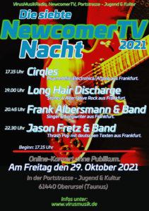 Die siebte NewcomerTV Nacht 2021 in der Portstrasse Jugen & Kultur. @ Portstrasse Jugend & Kultur