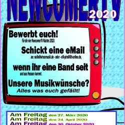 VirusMusik sucht Musiker/innen und Bands, für die NewcomerTV Nächte 2020!