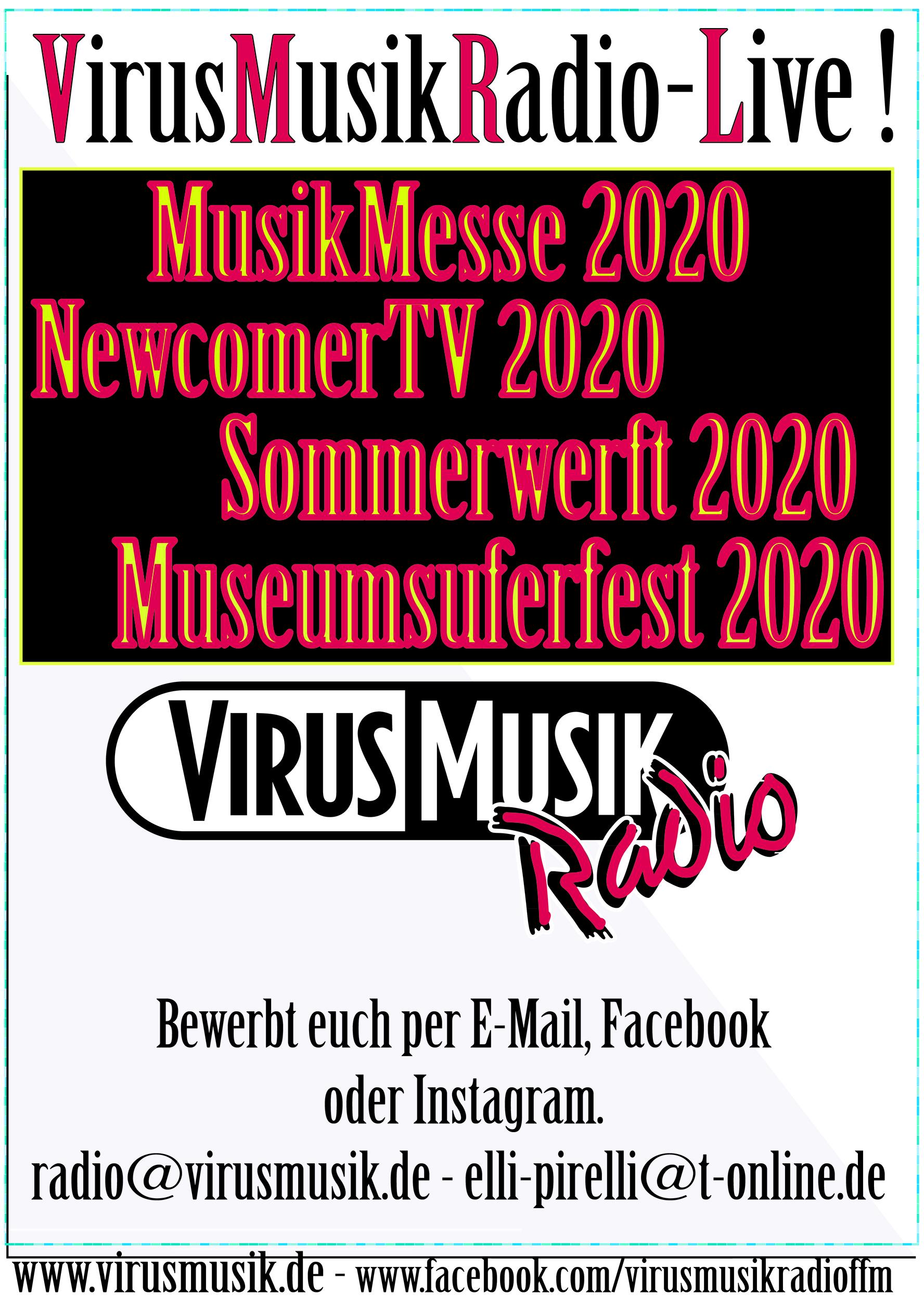 VirusMusik sucht Musiker/innen und Bands, für das Kulturprogramm 2020!