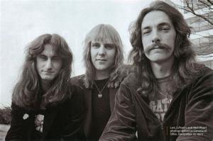 RUSH: Geddy Lee, Alex Lifeson, Neil Peart (v.l.n.r.)