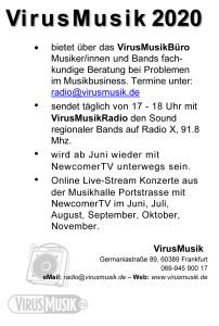 VirusMusik Anzeige Waggong 2020 neu internet