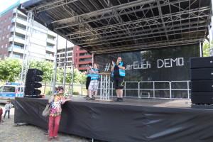 """BumBum Ulli + die Organisatoren der 1. """"Wir für Euch"""" Kundgebung vom 2. Juli 20 an der Weseler Werft in Frankfurt"""